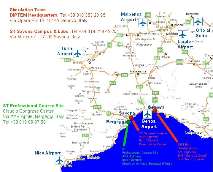 Simulation Team Genoa Venue - Italy map genoa